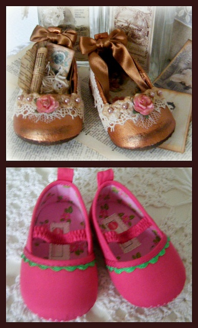 before and after: altered baby shoes by yitte