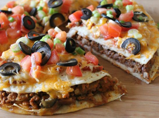 Mexican Pizza Recipe Yield: 2 Mexican Pizzas Prep time: 20 min | Cook time: 25 min