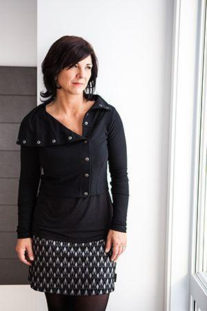 Jupe jacquard arlequin et boléro attachant noir. www.rienneseperd.com