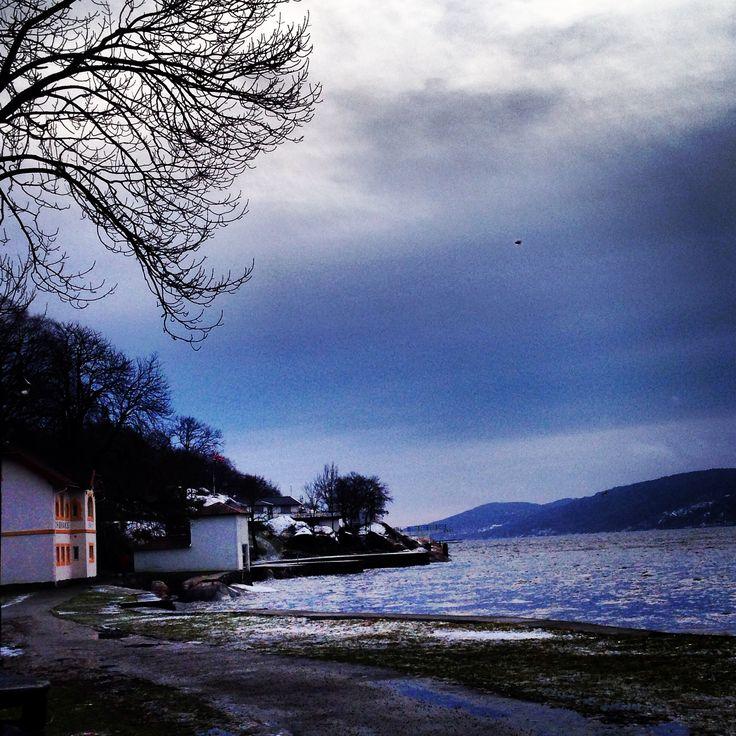 Badeparken i Drøbak ligger der vakker i vinterlys! 1 januar 2015 #Badeparken #Drøbak #MyTown