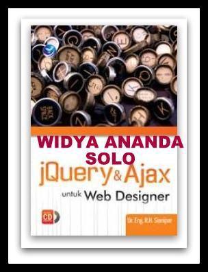 JQuery & Ajax Untuk Web Designer +cd  ISBN: 978-979-29-5209-4 Penulis: R.H. Sianipar UkuranHalaman: 16x23 cm  vi+202 halaman EdisiCetakan: I, 1st Published Tahun Terbit: 2016      Sinopsis Berikut ini merupakan topik-topik yang dibahas dalam buku ini:  Dasar-dasar JQuery  Bejerja dengan elemen menggunakan Jquery  Bekerja dengan Event  Efek visual dengan Animasi  Fungsi-fungsi utilitas jquery  Dasar-dasar Ajax  Lebih lanjut dengan Ajax  Menggunakan Widget Jquery