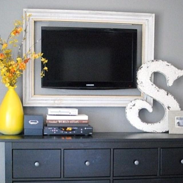 Great way to blend a tv into the bedroom
