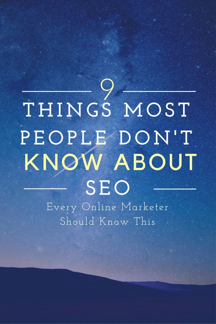 PIN FOR LATER. New to the world of search engine optimization (SEO)? Columnist John Lincoln explains some things you might not know about this online marketing discipline.