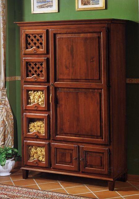 Dispense e Stipi : Pastaia 8 porte in legno massiccio