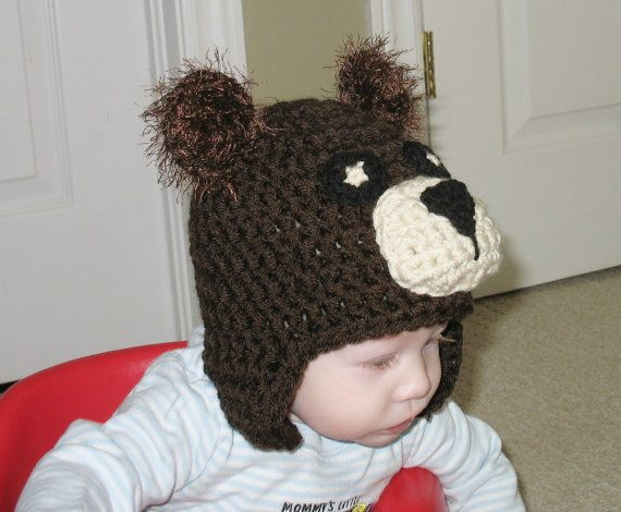 Bear Hat Newborn Bear Hat Kids Bear Hat by DeesCozyCreations