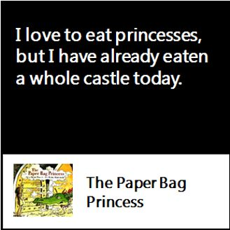 The paper bag princess lesson plans