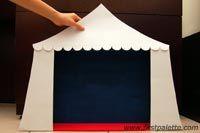 Step 6 Paper Circus Tent craft