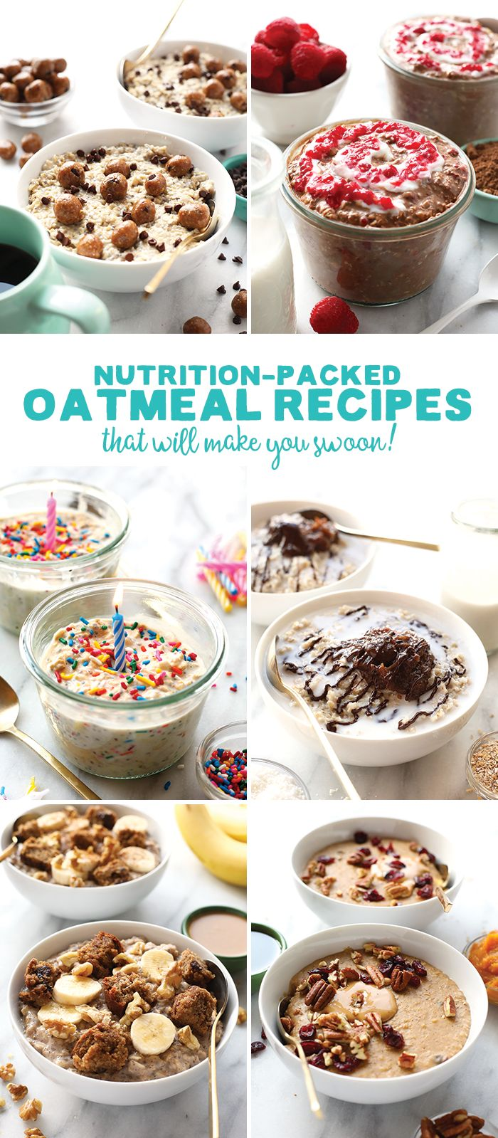 Make one of these Nutrition-Packed Oatmeal Recipes for a hearty breakfast packed with whole grains and healthy carbs!