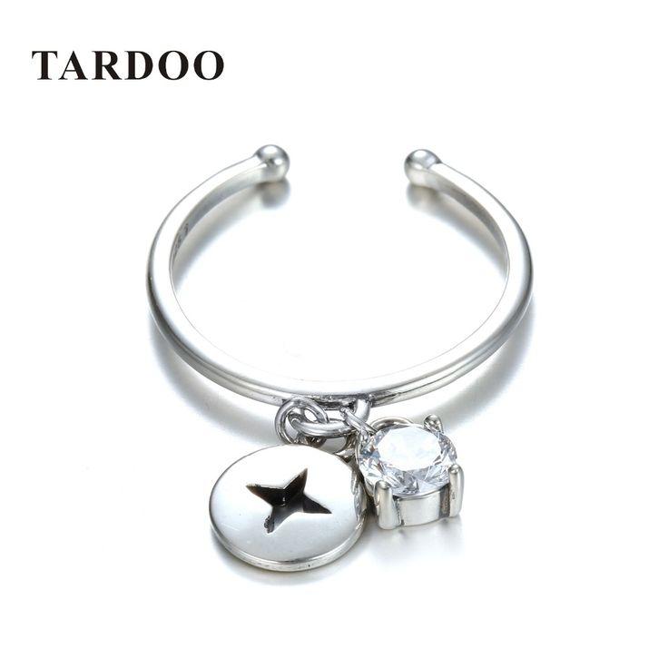 Tardoo Аутентичные 925 Серебряные кольца для женщин классический и элегантный стиль регулируемый кольца обручальные бренд ювелирных украшенийкупить в магазине Tardoo StoreнаAliExpress