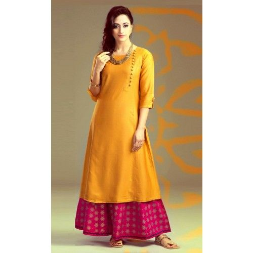Shop Online Poly Silk Orange Plain Unstitched Palazzo Style Suit - A50 @ 949.0000 at Indiarush. Best Discount ✓ Cash on Delivery ✓ Free Shipping✦ ✓15 Days Return ✓ All India Shipping.
