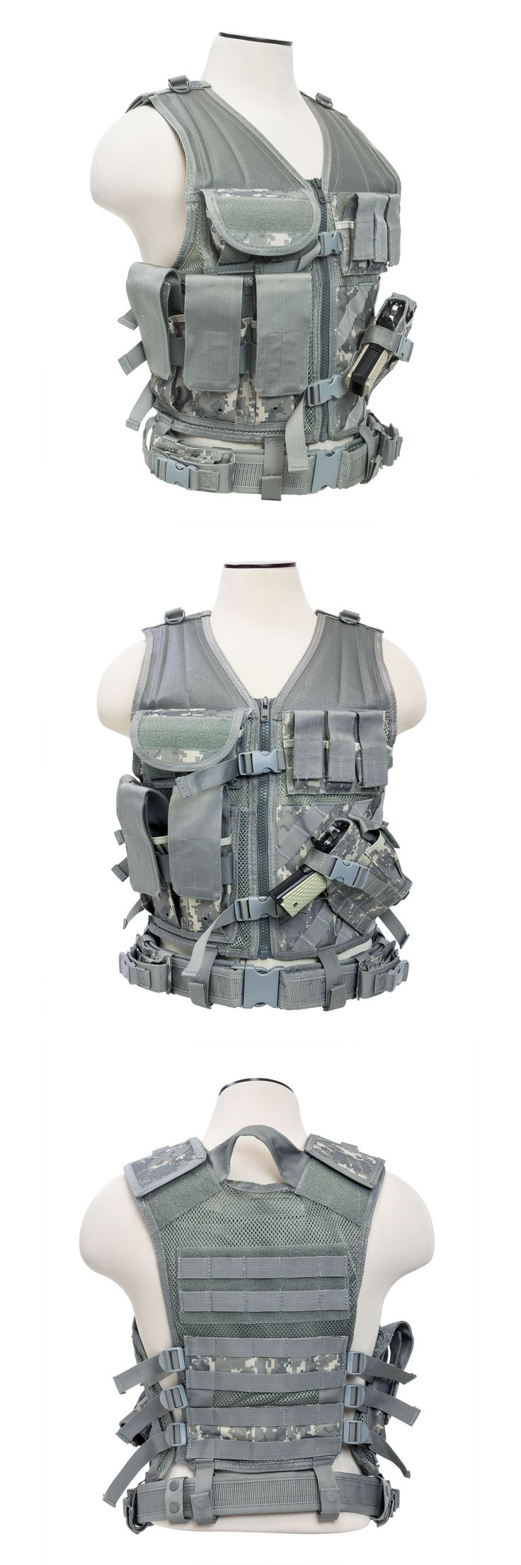 Chest Rigs and Tactical Vests 177891: Ncstar Ctv2916d Pvc Military Tactical Heavy Duty Vest W Pistol Holster Dig Acu -> BUY IT NOW ONLY: $35.95 on eBay!