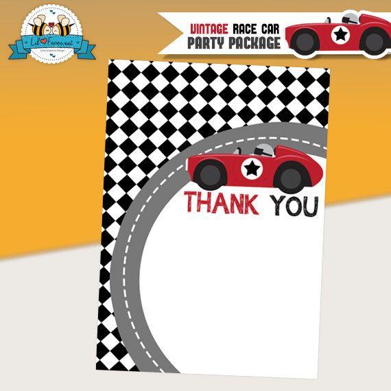 Printable Race Car Ticket Birthday Invitation - Hot Wheels Or
