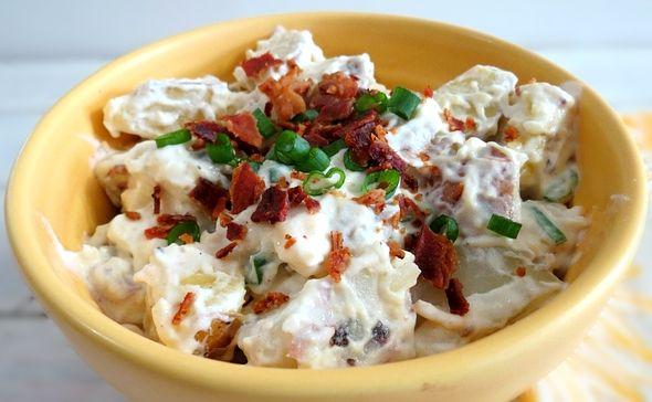 Картофельный салат с беконом | Кулинарный Рай