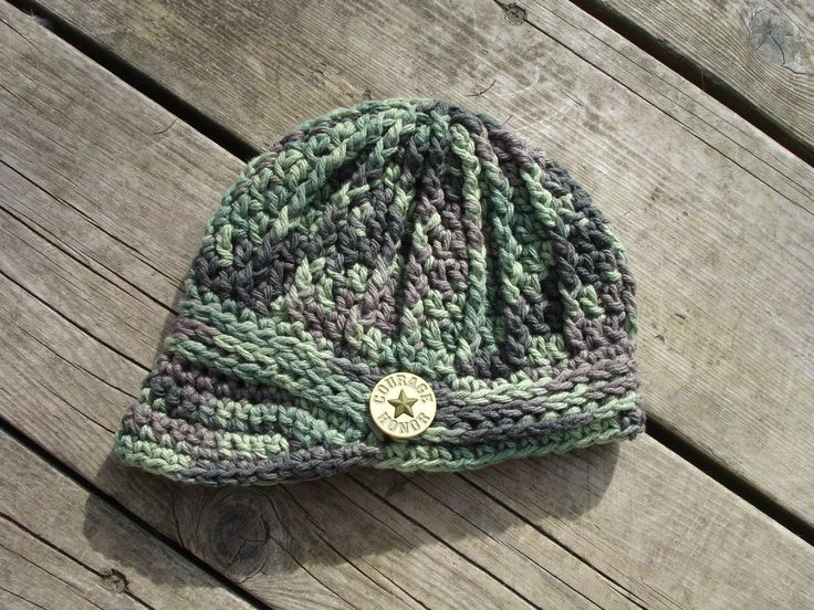 Crochet Pattern for Unisex Freedom Fighter Newsboy Beanie Hat - 6 sizes, baby to adult - Welcome to sell finished items. $4.95, via Etsy.