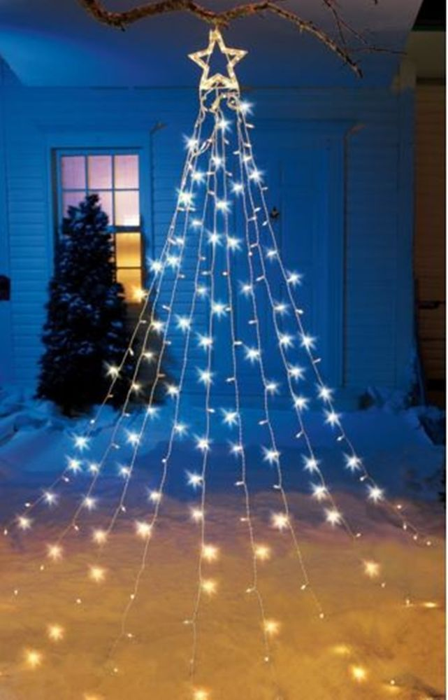12 Foot Christmas Tree Star String Light Display Lighted Holiday - lighted christmas yard decorations