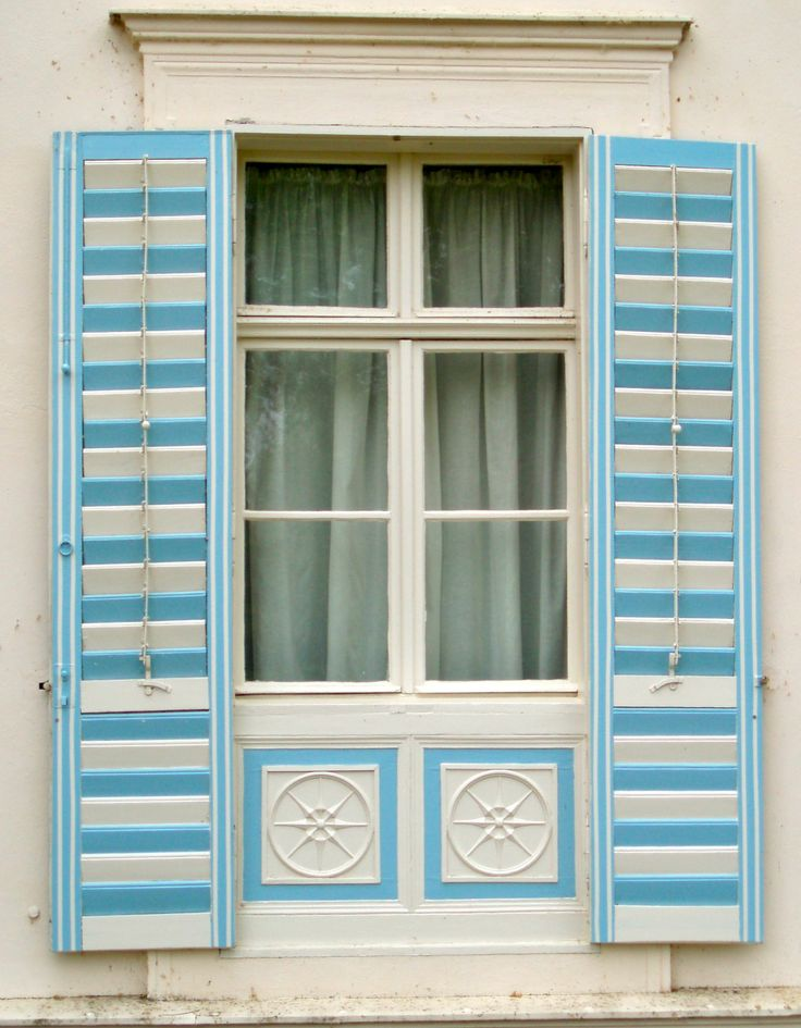 Blue and White Shutters in Potsdam, Germany