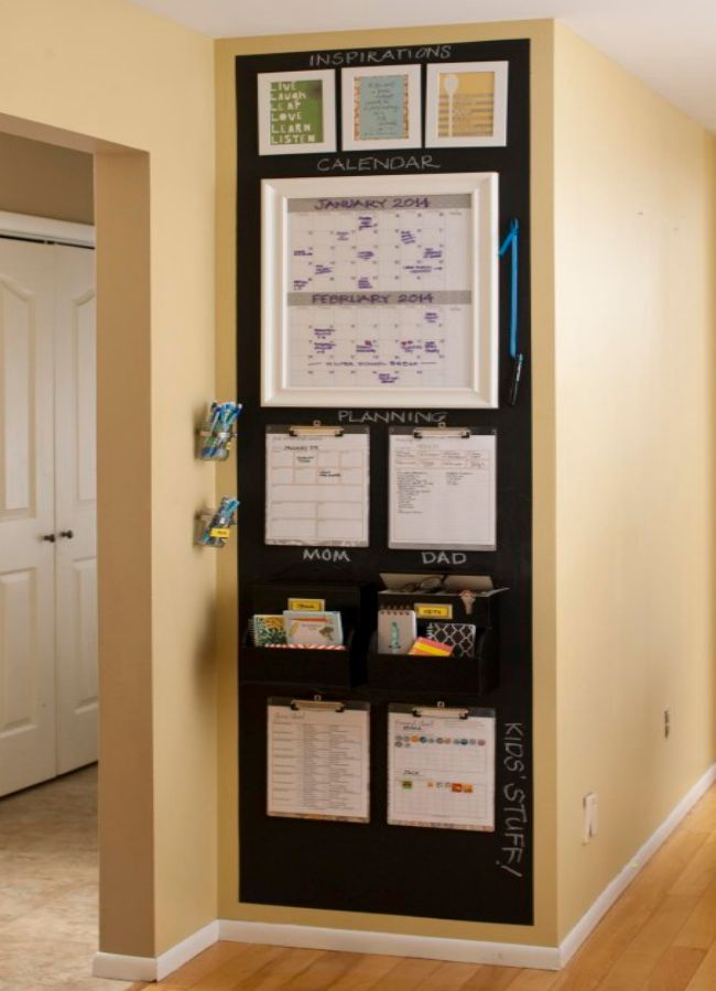 Back to school season is here! Get organized for the school year with one of these inspiring command centers.