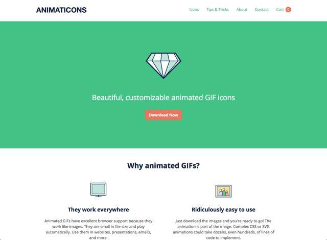 Animaticons 免費下載漂亮、可個人化動畫 GIF 圖示集