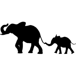 EASY Safari Animal Decor: African SAFARI ANIMAL SILHOUETTE wall transfers are…