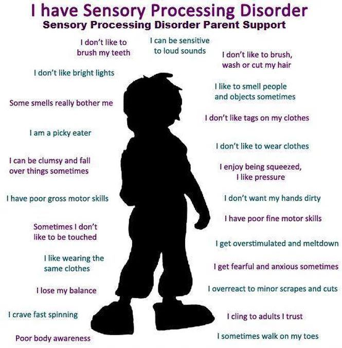 symptoms of sensory processing disorder, children, SPD, sensitive to smells, touch, irritated, overstimulated, overreact Tap the link to check out fidgets and sensory toys! Happy Hands Toys!