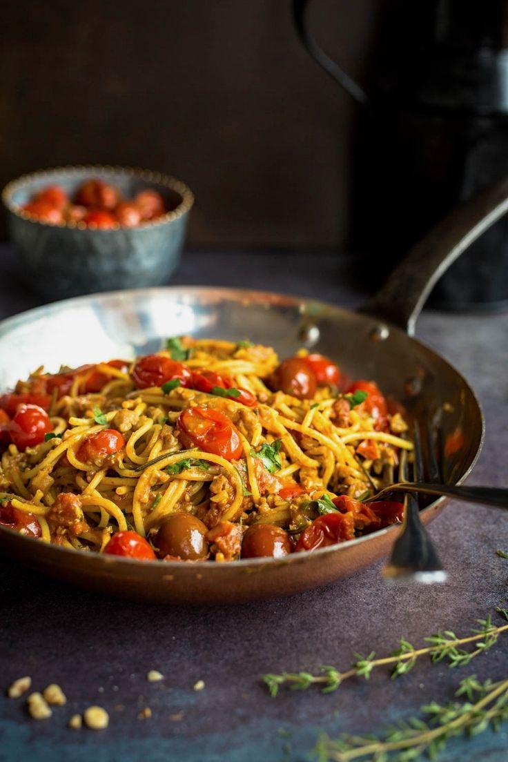 Pâtes aux tomates confites et noix de grenoble express | K pour Katrine