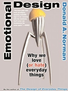 """Donald Norman's """"Emotional Design: Why We Love (or Hate) Everyday Things.""""Worth Reading, Donald O'Connor, Book Worth, Donald Norman, Book Clubs, Free Stuff, Lemon Juicers, Emotional Design, Norman Emotional"""