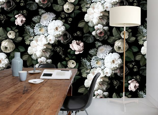 In Love With This Wallpaper Dark Floral Wallpaper Collection Webshop Ellie Cashman Design