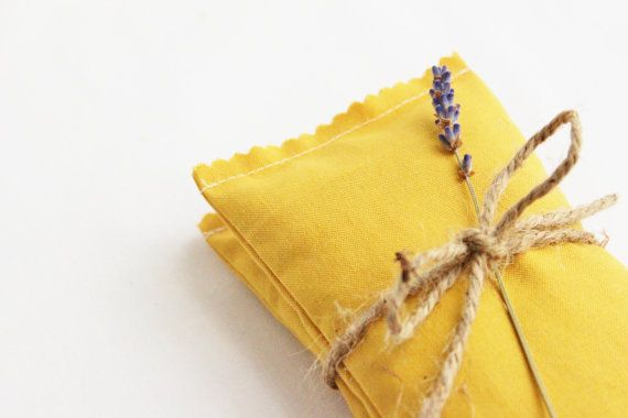 Mustard Yellow Lavender Bags, Scented Drawer Sachets, Fall Wedding Favors, Home Fragrance
