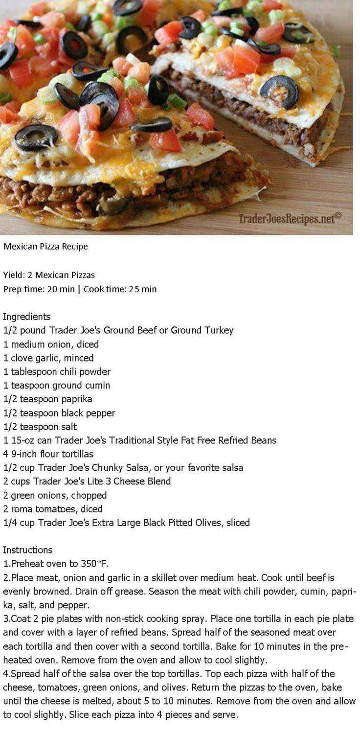 Mexican pizza                                                                                                                                                                                 More
