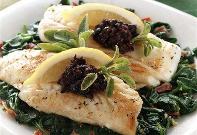 Rays Food Place - Recipe: Alaska Cod Florentine