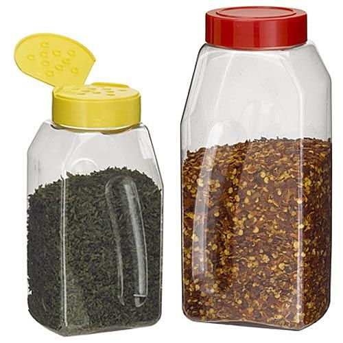 Bulk Oblong Plastic Spice Jars PET