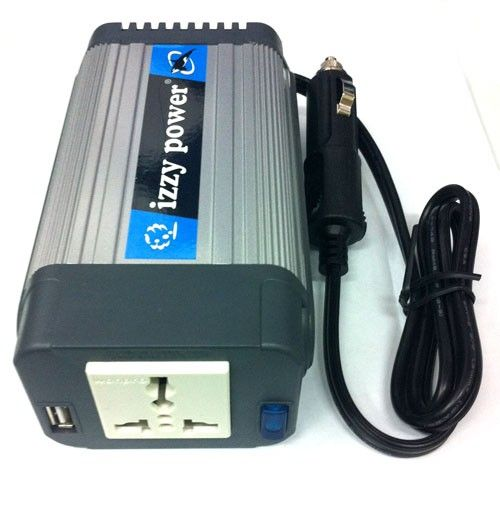 IZZY POWER DC to AC Car Inverter HT-E-150-12 150 Watt 12 Volts - with powerful USB power port Model  IPCI08XX Car Inverter 150 Watt termurah hanya di Gudang Gadget Murah. Izzy Power dengan model HT-E-150-12 dilengkapi powerful USB port dapat menjadi solusi bagi Anda yang berpergian dan pada saat listrik padam dan cocok untuk digunakan oleh notebook, charger handphone, netbook, lampu dan perkakas listrik lainnya.