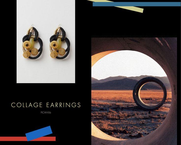 Collage Earrings, Buy online: www.pichulik.com/shop