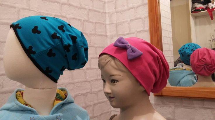Czapeczki smerfetki #czapka #smerfetki #dwustronna #dzieci