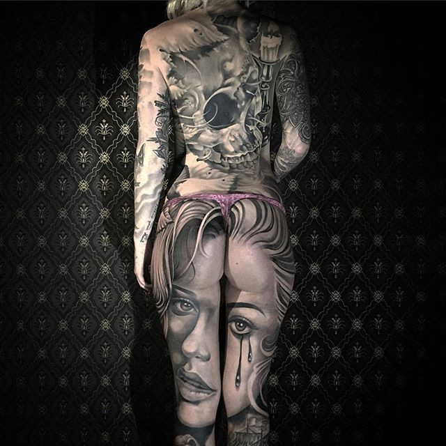 Stunning full body suit project by Artist @niceguychris, who's based out of Karlsborg, Sweden #blackandgray #bodysuit #tattoo