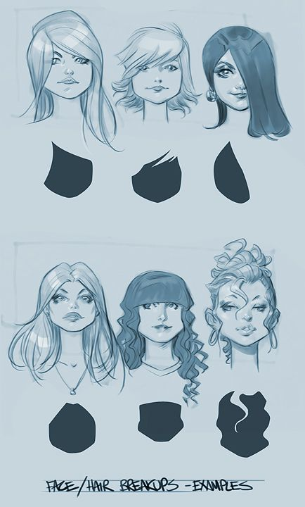 face/hair braskups ✤    CHARACTER DESIGN REFERENCES   Find more at https://www.facebook.com/CharacterDesignR