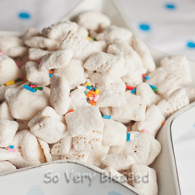 Cake Batter puppy chow!