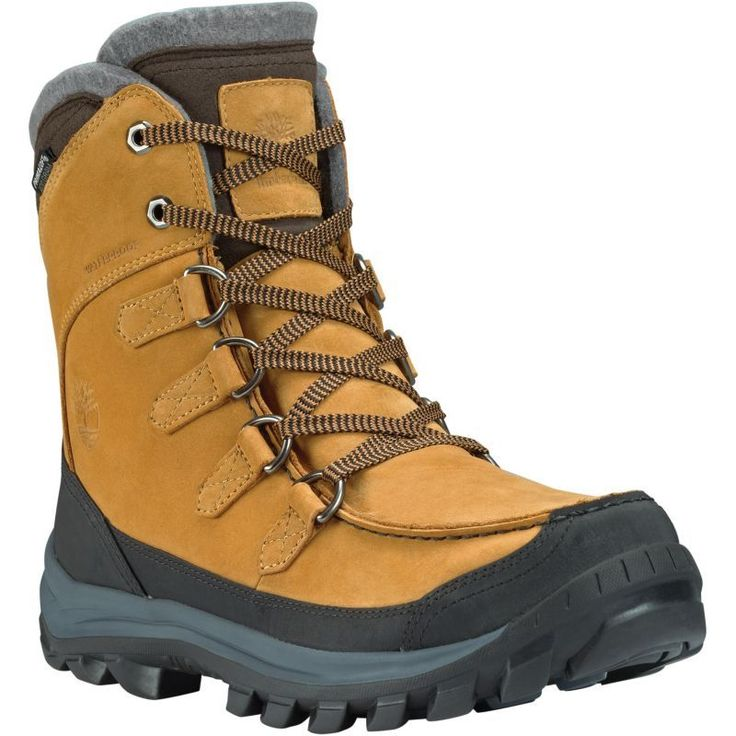 Timberland Men's Chillberg Premium 400g Waterproof Winter Boots, Size: 7.0, Wheat