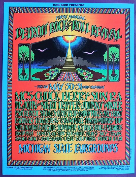 Catawiki online auction house: Summer of Love psychedelic Festival Poster 1969
