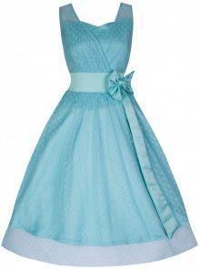 LindyBop šaty Ella, tyrkysové