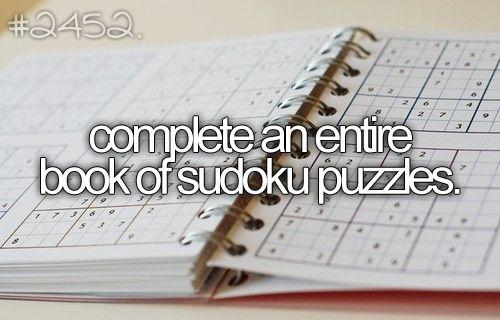 before I die..: Sudoku Puzzles, Complete, Hard My Buckets Lists, 2014 Bucketlist, Hard Mybucketlist, Logic Puzzles, Entir Book, Book Buckets Lists, Big Book