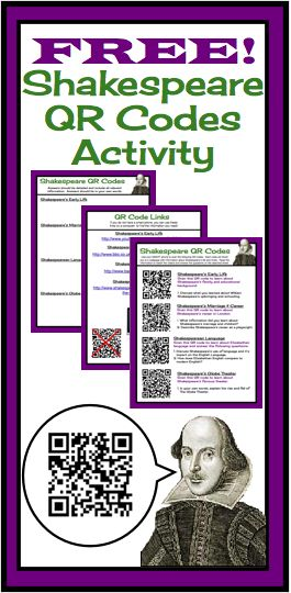 Transport your students back to Renaissance England using modern technology! This assignment has students use QR codes as a method of research for Shakespeare's life and times.