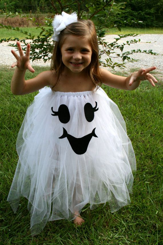 For Em. Too Cute To Spook Tutu ghost Halloween Costume size 4T-6 girls. $35.00, via Etsy.