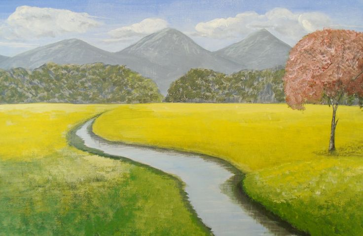 Valley River. Paintings on canvas by Art Online