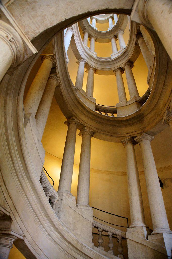Borromini Staircase Palazzo Barberini Rome Baroque