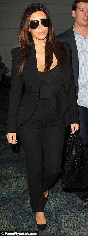 Kim Kardashian + Black Blazer