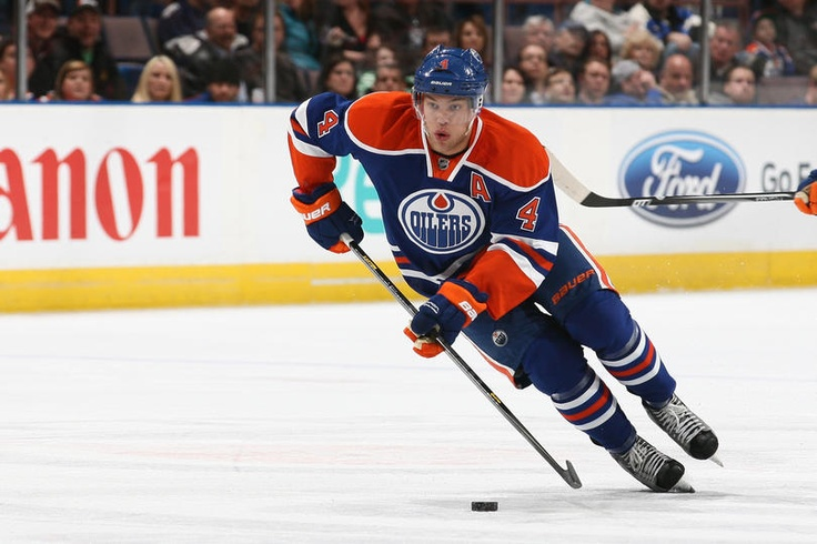 Taylor Hall #4 of the Edmonton Oilers  (Photo by Marko Ditkun/NHLI via Getty Images)