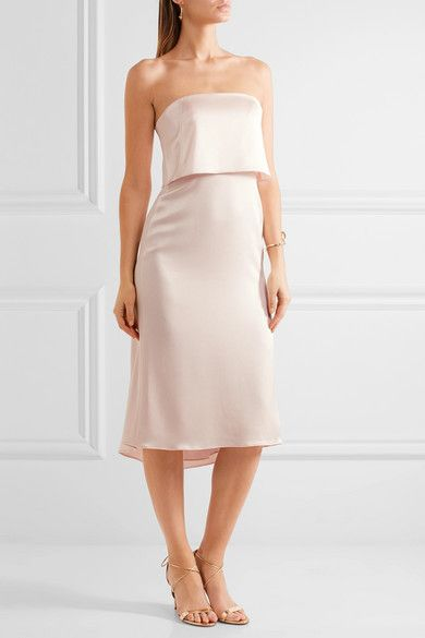 e8dc9e7232f1 Halston Heritage | Layered satin dress | NET-A-PORTER.COM | 1 идеи ...