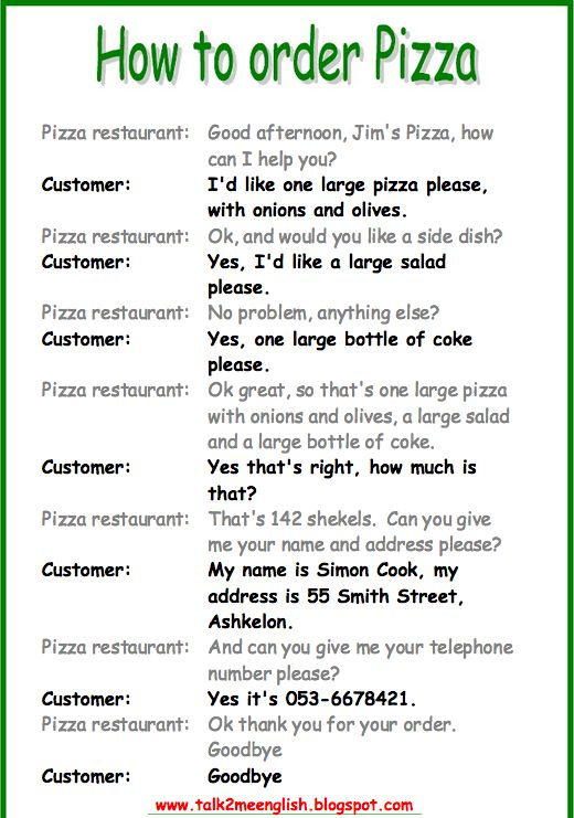 782 best english images on pinterest english class learn english ordering food speaking activity part 2 ibookread Download
