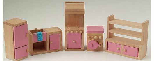 STREETS AHEAD Wooden Dolls House Furniture Set - PINK Kitchen Wooden Dolls House Furniture Set - PINK Kitchen (Barcode EAN = 0791090618373). http://www.comparestoreprices.co.uk/kitchen-furniture/streets-ahead-wooden-dolls-house-furniture-set--pink-kitchen.asp